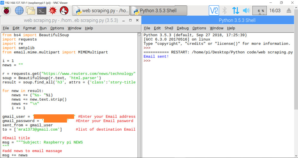 Basics of Web Scraping w/ Raspberry Pi & Python [w/ Sample