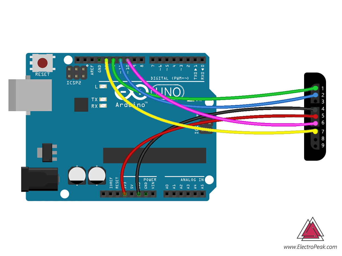 PS2 Arduino connection circuit