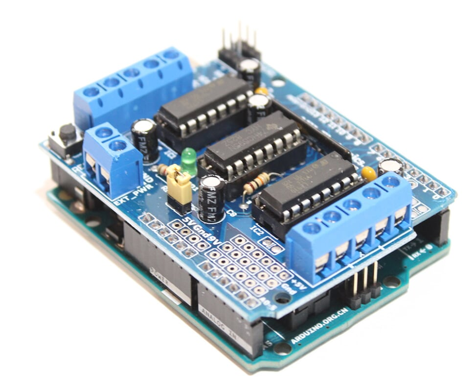 Arduino L293D Motor Driver Shield Tutorial - ElectroPeak