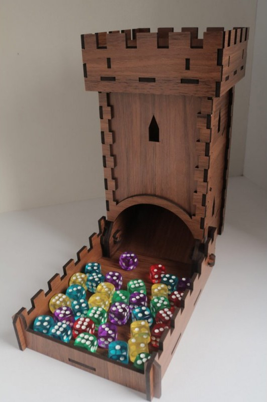 Arduino and dice tower