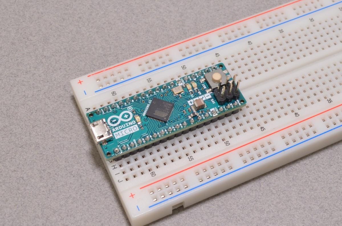 Arduino micro on breadboard