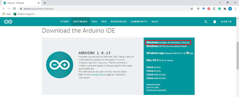 download Arduino IDE windows