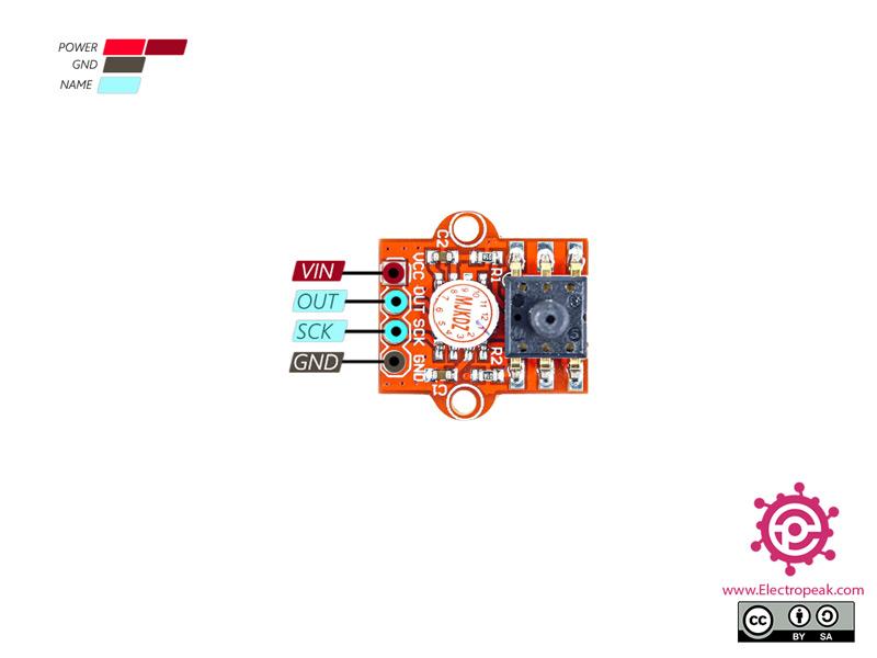 MPS20N0040D Pressure Module Pinout