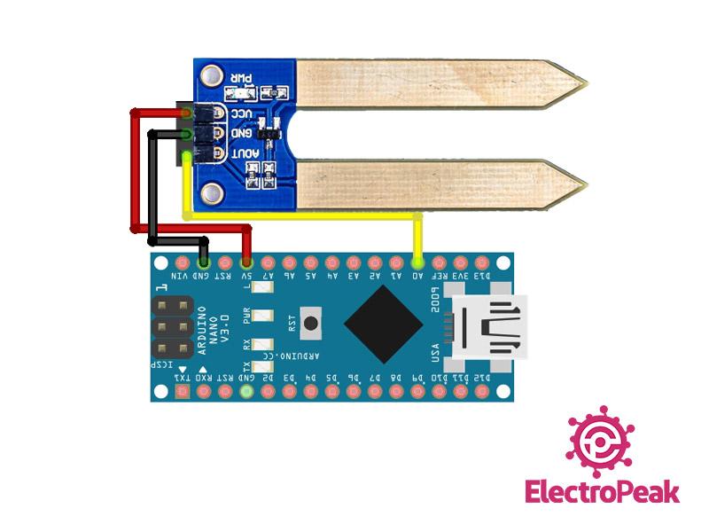 Soil Moisture Sensor Arduino circuit