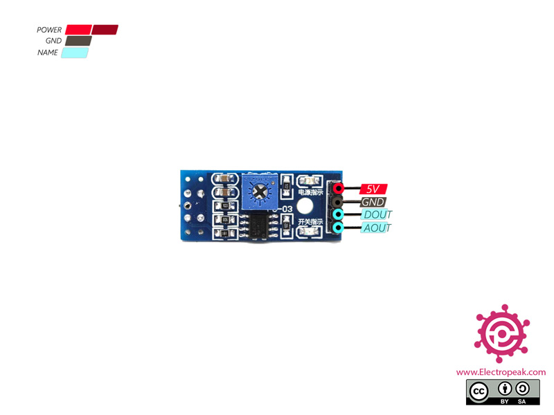 TCRT5000 Sensor Pinout