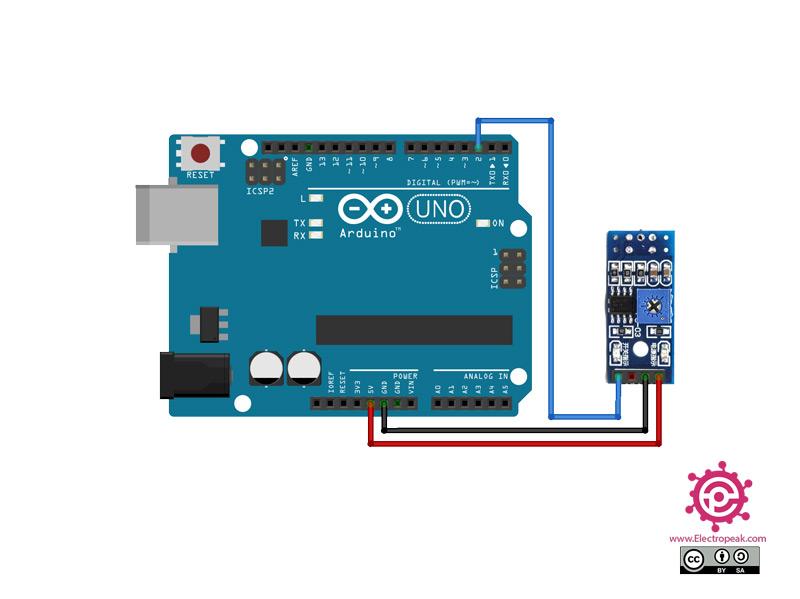 TCRT5000 Sensor Arduino circuit