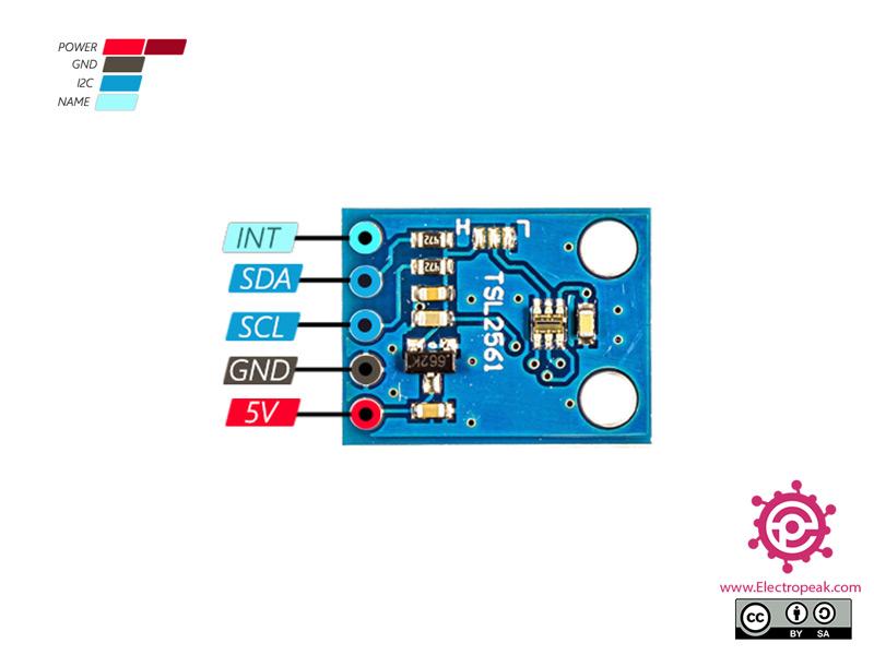 TSL2561 Light Sensor Pinout