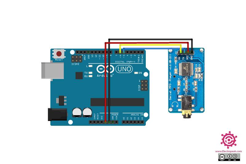 YX6300 Module Arduino circuit