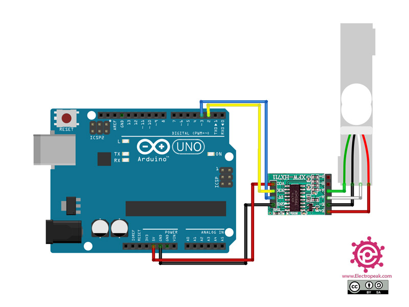 HX711 Module Arduino circuit