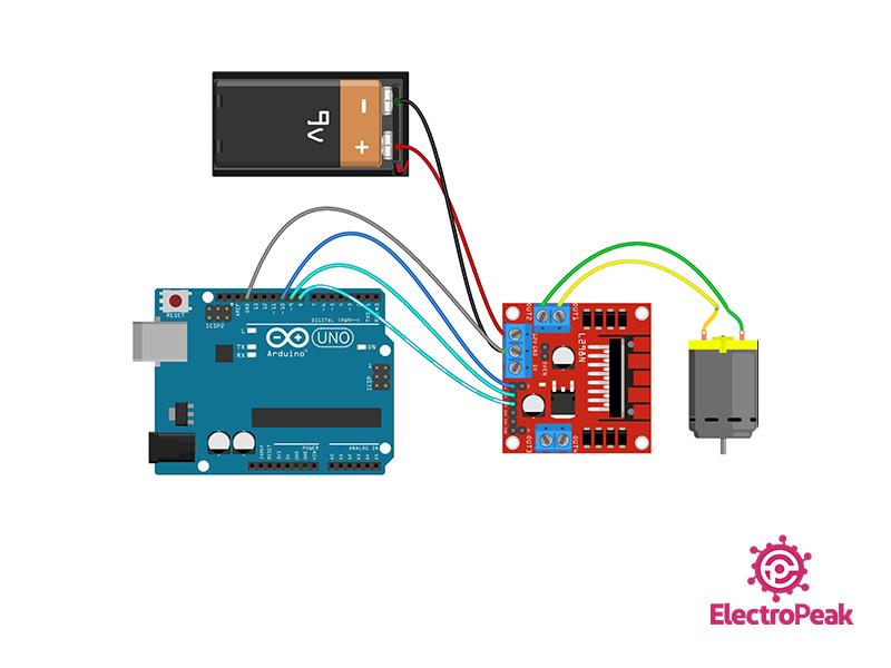 L298N Module Arduino circuit