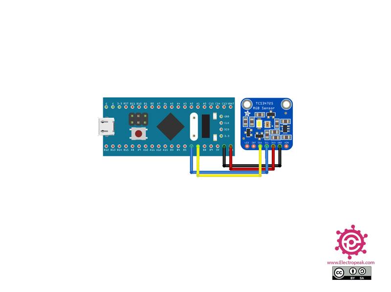 TCS34725 Moudle STM32 circuit