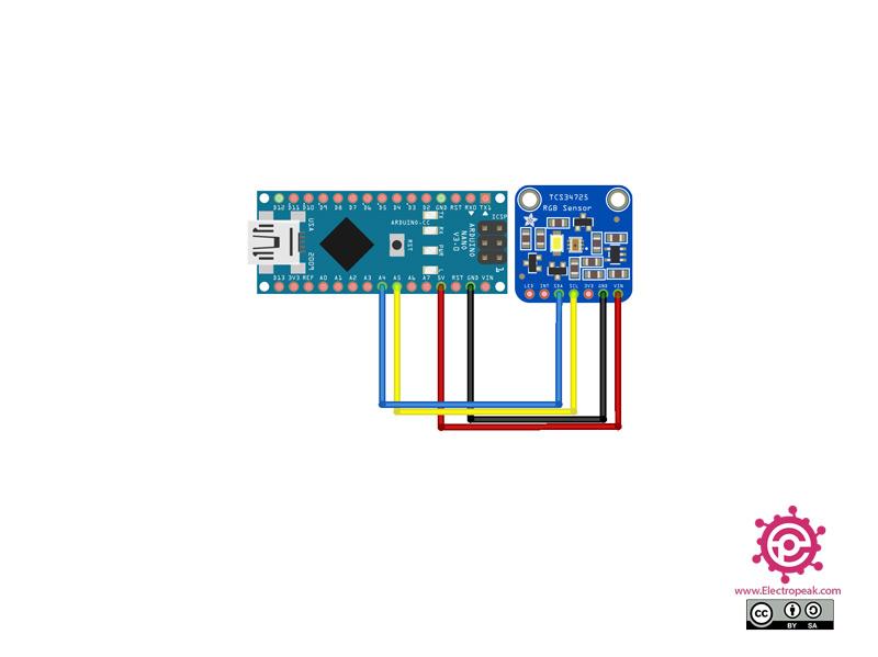 TCS34725 Moudle Arduino circuit