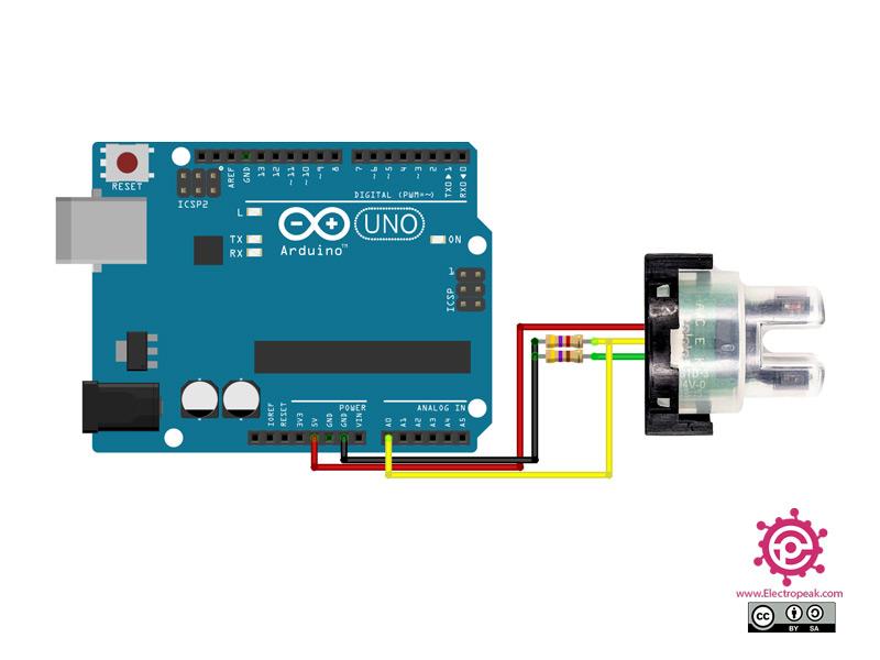 TSD-10 Sensor Arduino circuit