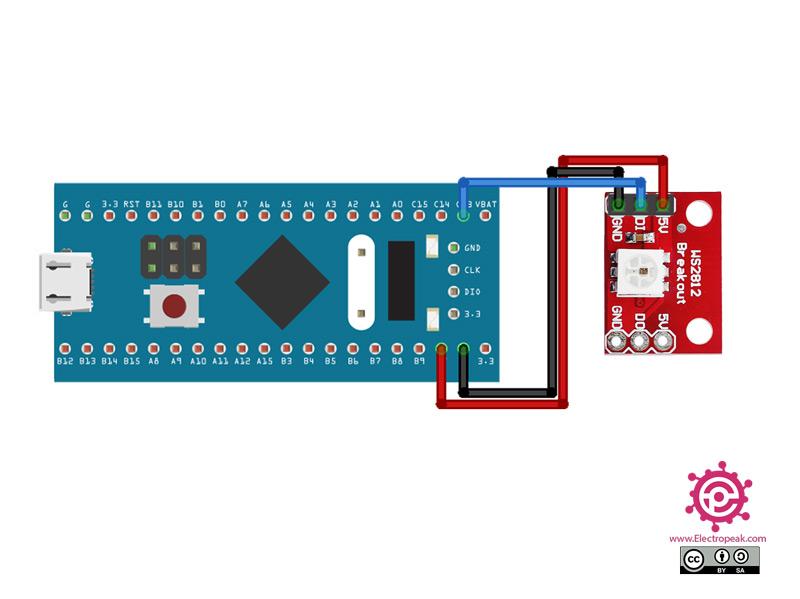 WS2812 LED Module STM32 circuit