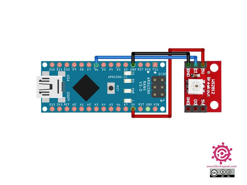 WS2812 LED Module Arduino circuit