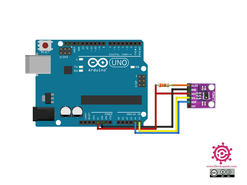 AP3216 Module Arduino circuit