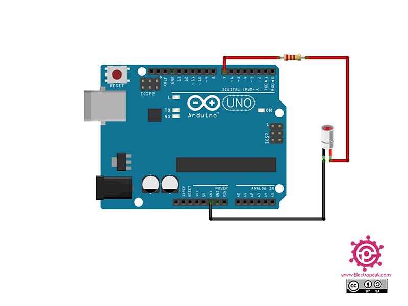 Laser Module Arduino circuit