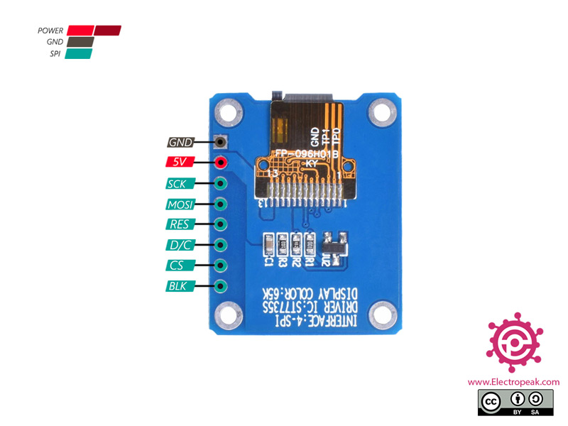 0.96 INCH OLED Display Module Pinout