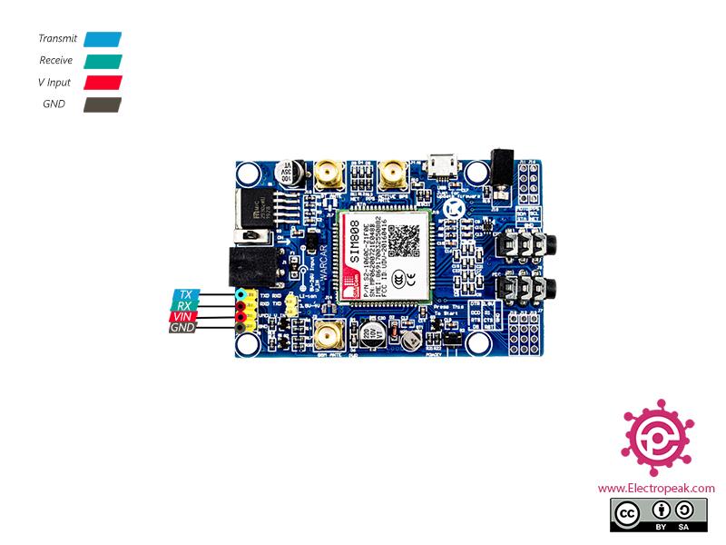 SIM808 Module Pinout