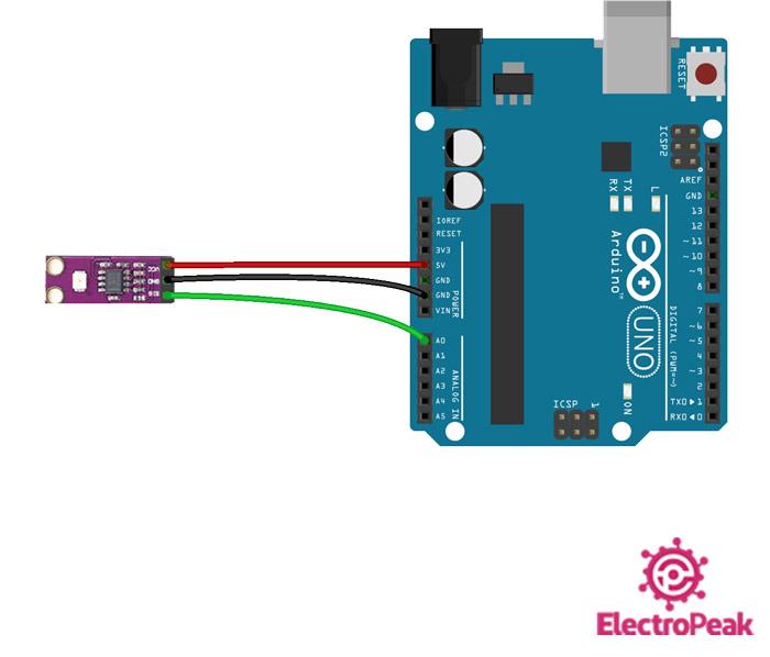 GUVA-S12SD Module Arduino circuit