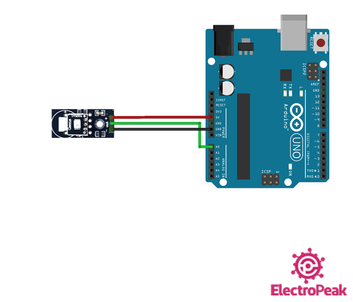UVM30A Module Arduino circuit