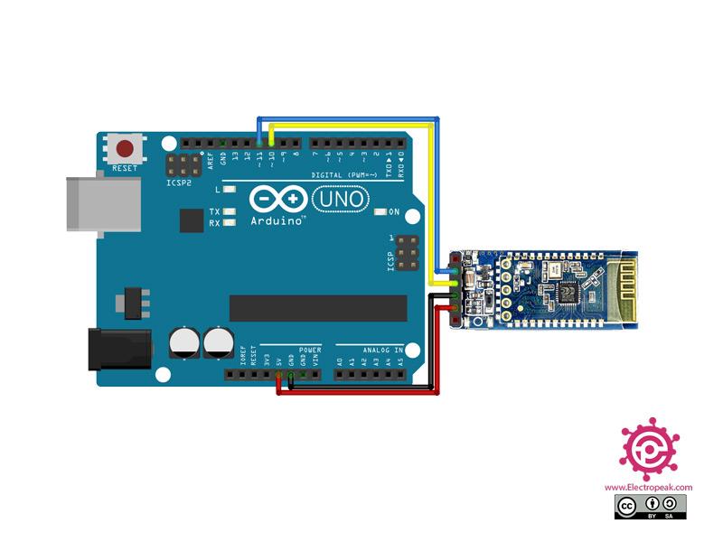 HC-06 Module Arduino circuit