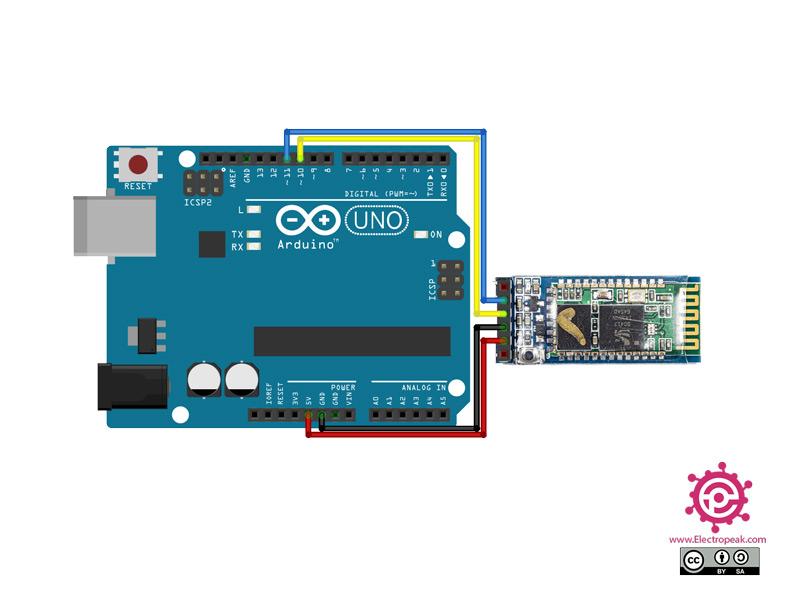 HC-05 Module Arduino circuit