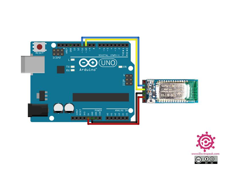 DX-BT18 Module Arduino circuit