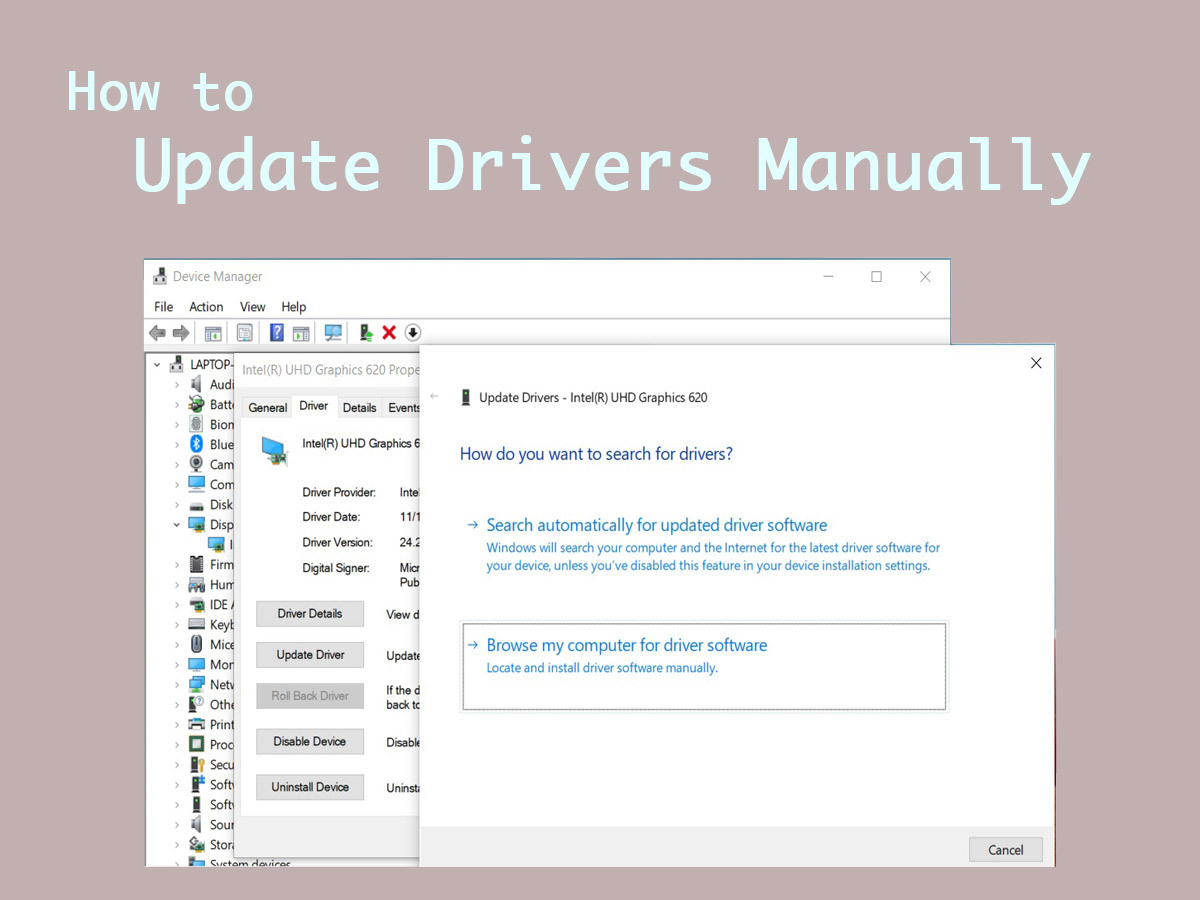 How to Install Drivers on Windows Manually