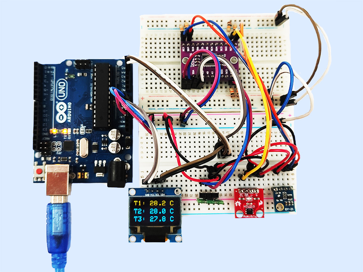Connect Multiple I2C Devices to Arduino Using I2C Multiplexer TCA9548A