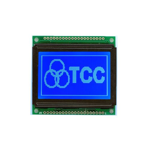 128x64 Graphical LCD Display- Blue Backlight