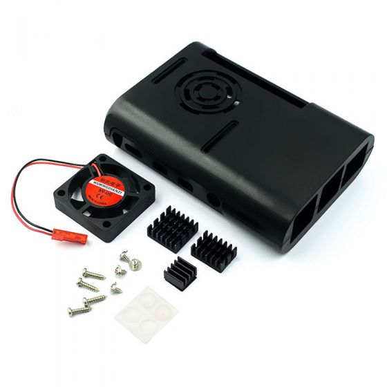 Raspberry pi 4 ABS Case with Fan and Heatsink